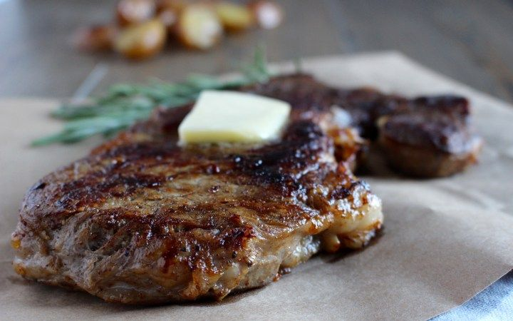 Pan-Seared Rosemary Butter Steak