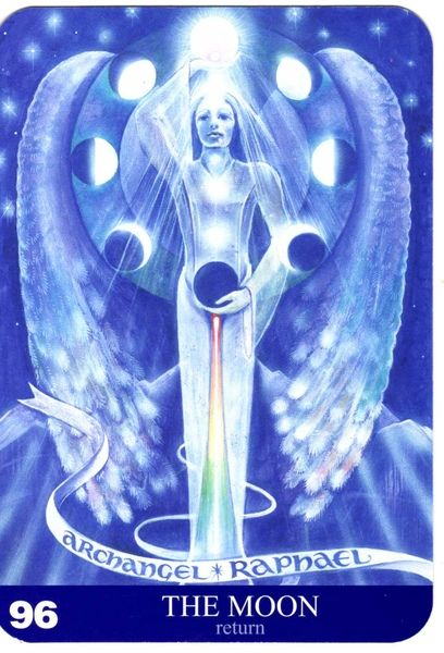 96 - La lune (retour) - New Aura Soma Tarot