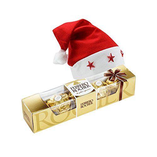 :: 5 Pieces #Ferrero_Rocher With Christmas Cap Christmas Chocolate Hamper :: Brand Name: SFU E Com 5 Pcs Premium chocolates, ideal for #gifting. Multi-layered chocolate individually wrapped.  #christmas2017 #classy #Gifthamper #ferrerorocher #Christmas #chocolates #FreeDelivery #Amazon #Ahmedabad #AmazonIndia #India