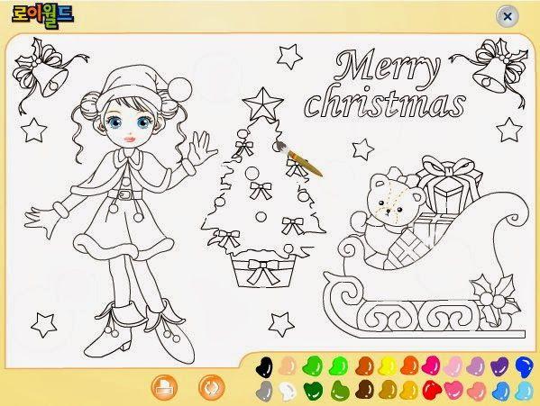 Dibujo De Navidad Para Colorear Online