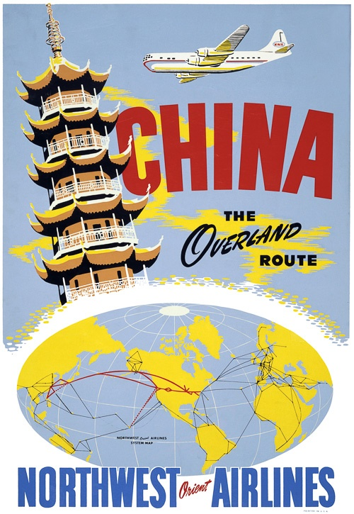 See China via Northwest Airlines Overland Route