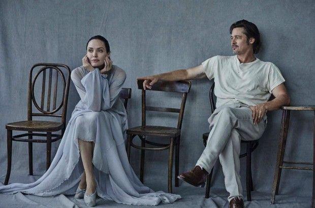 Angelina Jolie & Brad Pitt by Peter Lindbergh - 2015