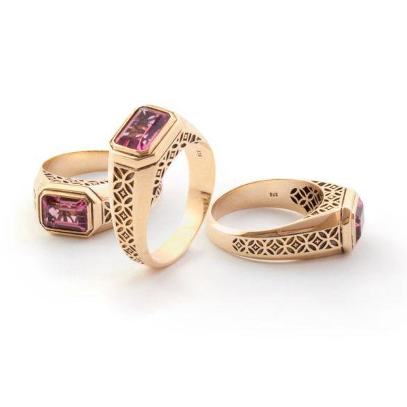 Yellow Gold, Tourmeline Ring. Geoff Mitchell design.