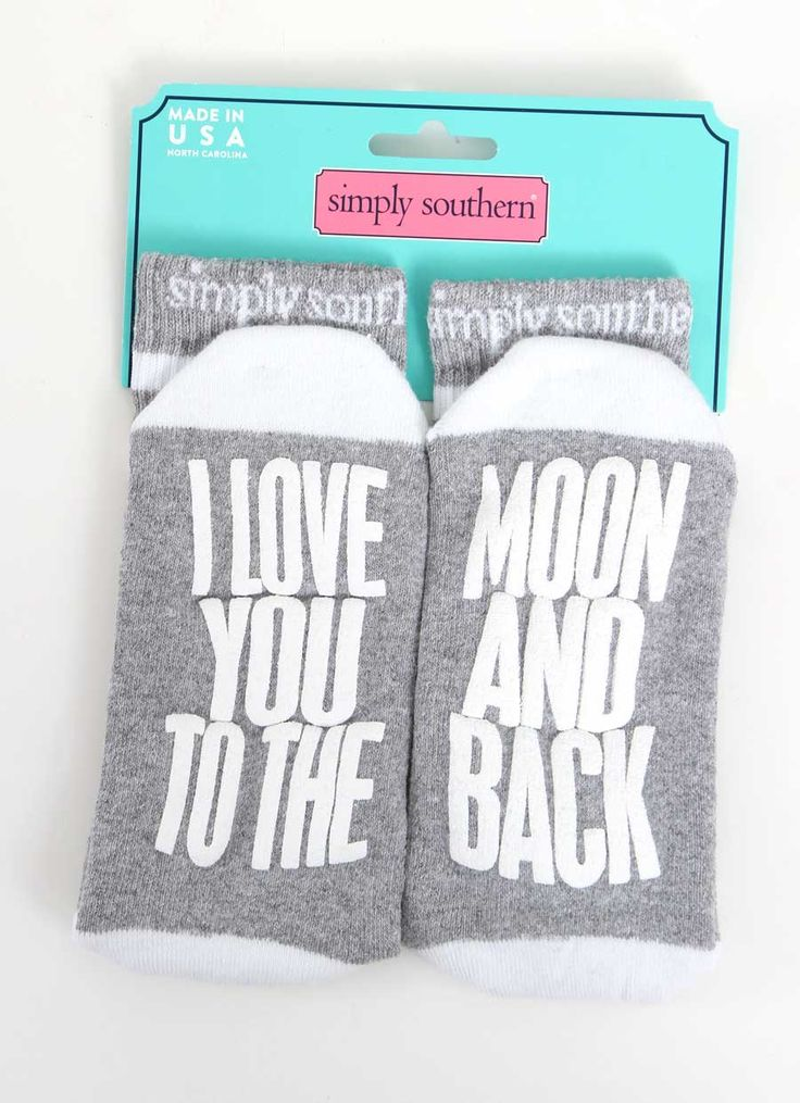 Simply Southern Preppy Collection To the Moon and Back Socks for Women