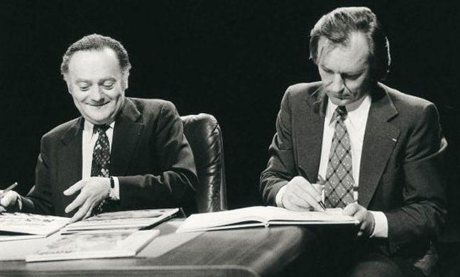 Οι δημιουργοί του αστερίξ Ουντερζό (αριστερά) και Γκοσιννί.