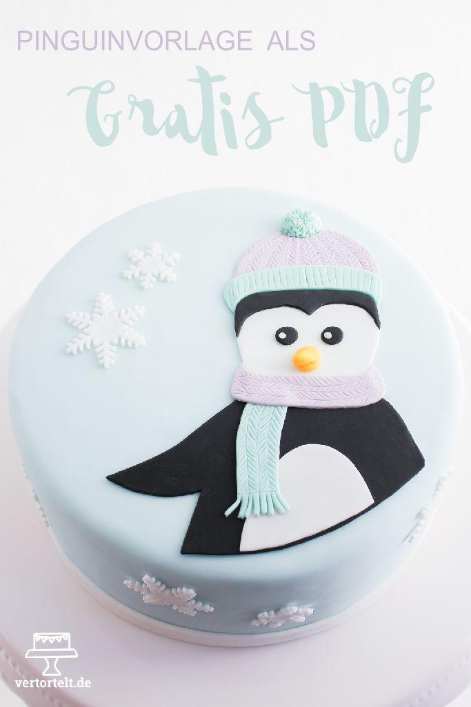 Zum direkten Download: Pinguinaufleger-Vorlage.pdf Heute gibt es eine schlichte Wintertorte, die sehr leicht nachzumachen ist. Ich ...