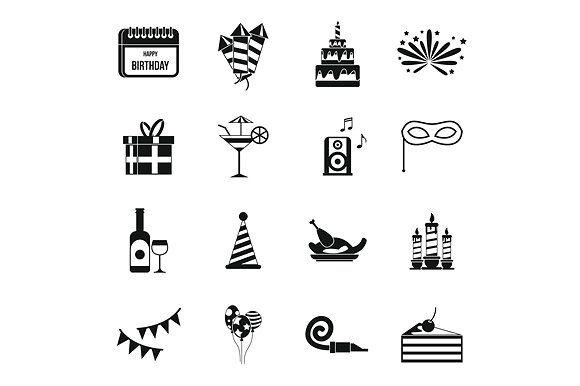 Happy Birthday icons set @creativework247