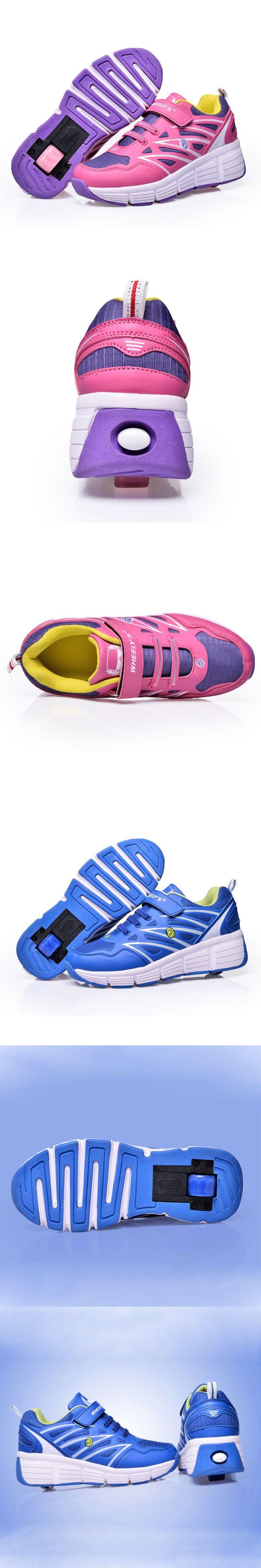 Roller shoes london - Children Heelys Kids Sneakers With Wheels Boys Girls Skate Roller Shoes Ultra Light Men Women
