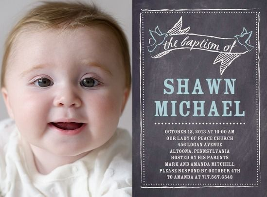 CHALKBOARD CHERISH: PEPPERMINTBAPTISM, CHRISTENING INVITATIONS