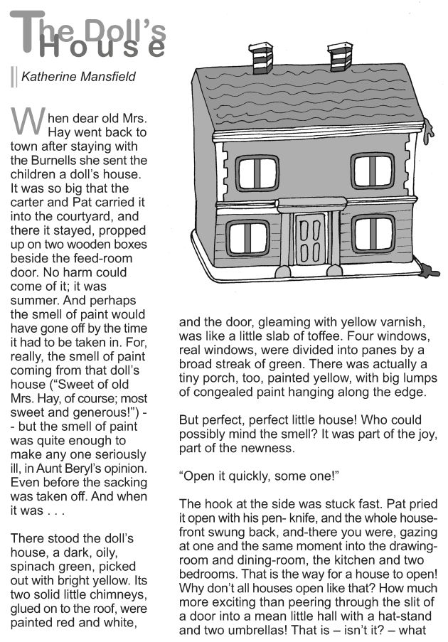 Grade 9 Reading Lesson 12 Short Stories The Dolls House 1