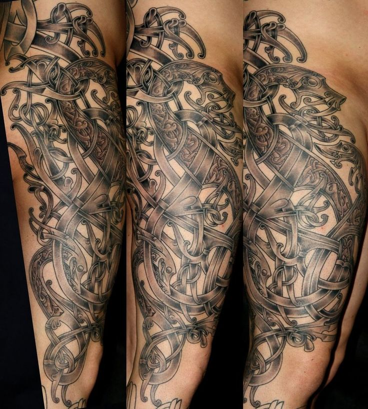 124 best norse tattoo images on pinterest viking tattoos for Viking tattoo sleeves