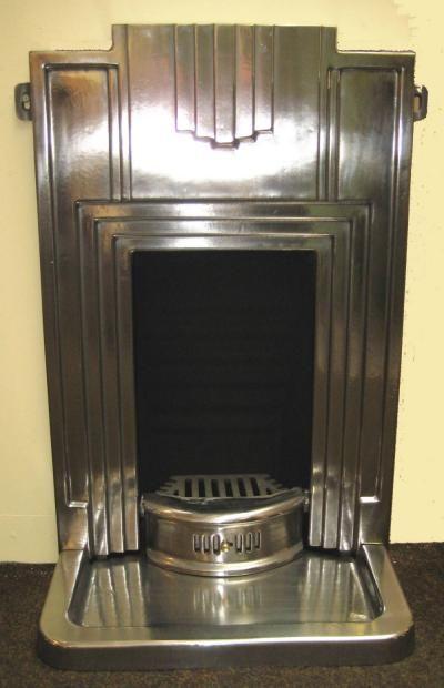 Art Deco metal fireplace