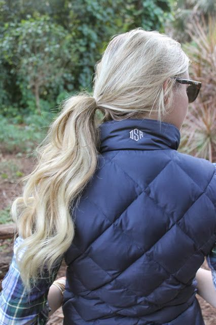 I can't live without my puffy vests and the little monogram is the perfect finishing touch!