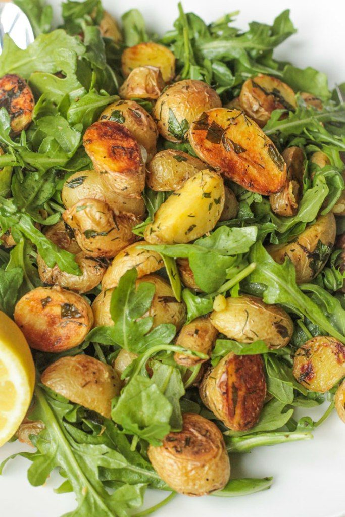 roasted potato and arugula salad v v salads salads side food salads ...