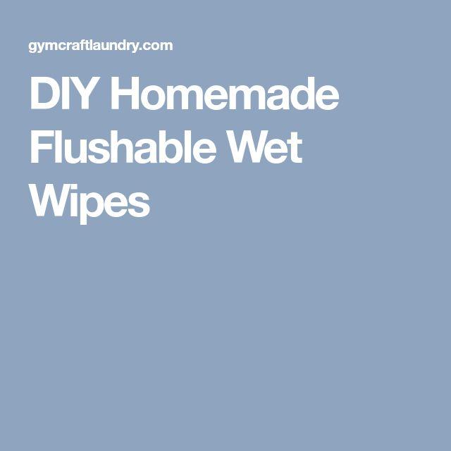DIY Homemade Flushable Wet Wipes