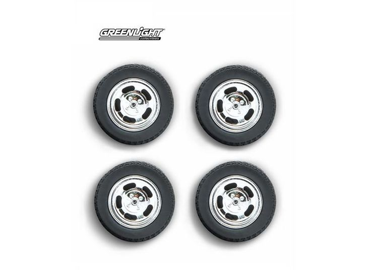1978 Ford Mustang II Cobra Five Slot Performance Wheels and Tires Set 1:18 by Greenlight - 12941