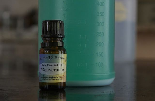 Spider Repellant Spray: Fill one spray bottle with water Add 10 drops of peppermint oil Shake before use