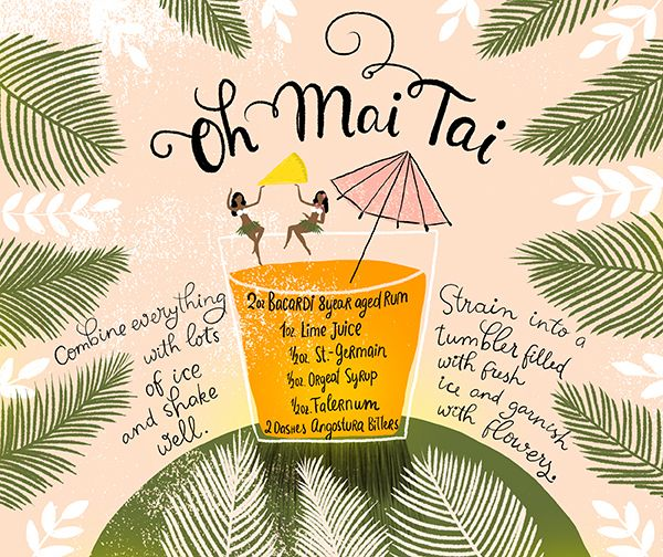 Mai Tai Cocktail: Meet the queen of tiki drinks. This version adds a hint of St-Germain for a subtle floral note in the sweet-tart classic.