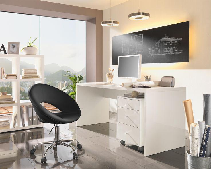 Schreibtisch wei briefablage schreibtische und hochglanz for Schreibtisch weiss 130 cm