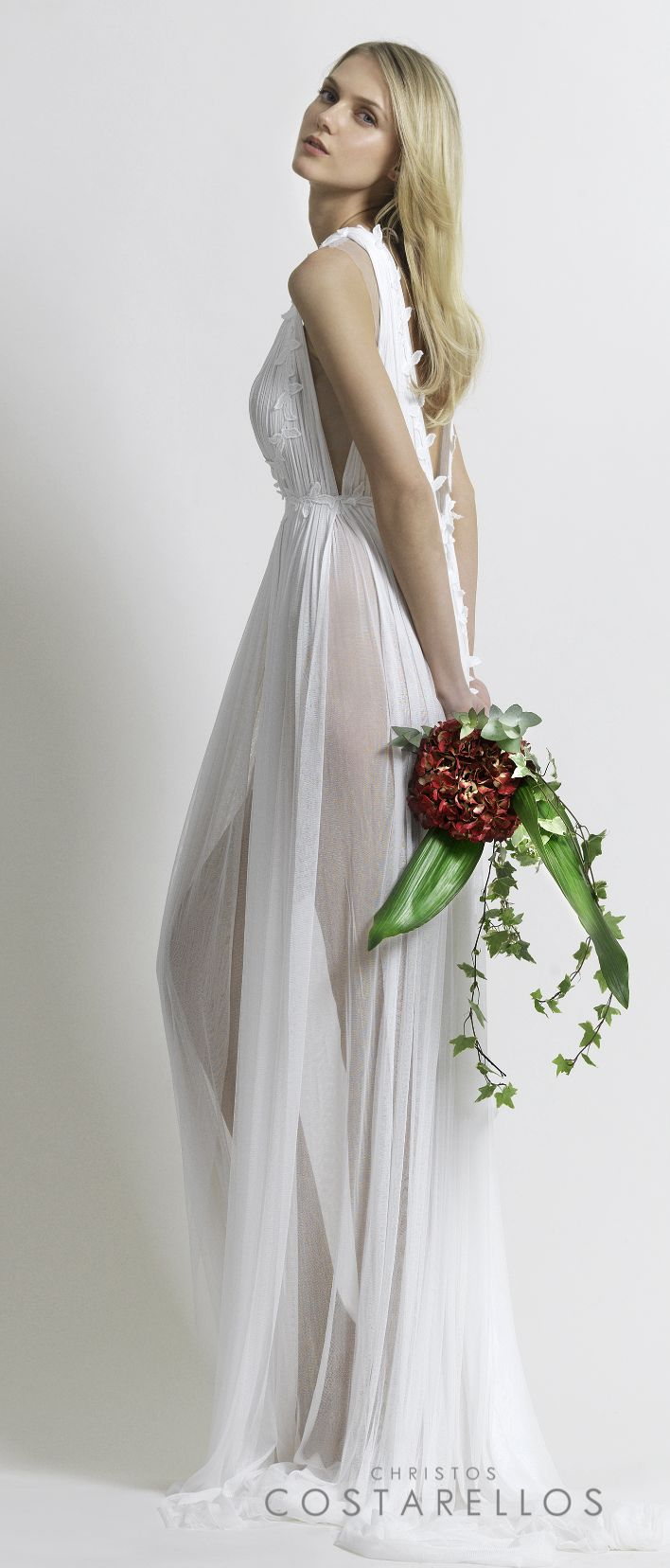 Christos Costarellos Bridal 2014 collection. This ethereal wedding dress is made of silk tulle and guipure lace. Code: BR14 26. For stockists please visit www.costarellos.com #christoscostarellos #costarellos #costarellosbride #bridaldress #bridalgown #weddingdress #weddinggown #lace #bridetobe #bridalmarket #bridalfashion #wedding