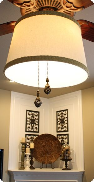 ceiling fan drum shade light cover...finally!
