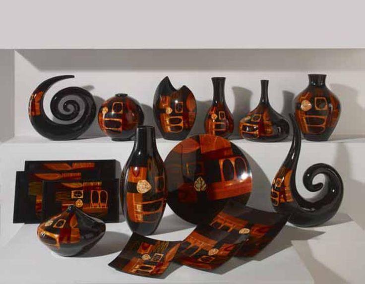 Jarrones platos y figuras de ceramica coleccion fola - Ceramica decoracion ...