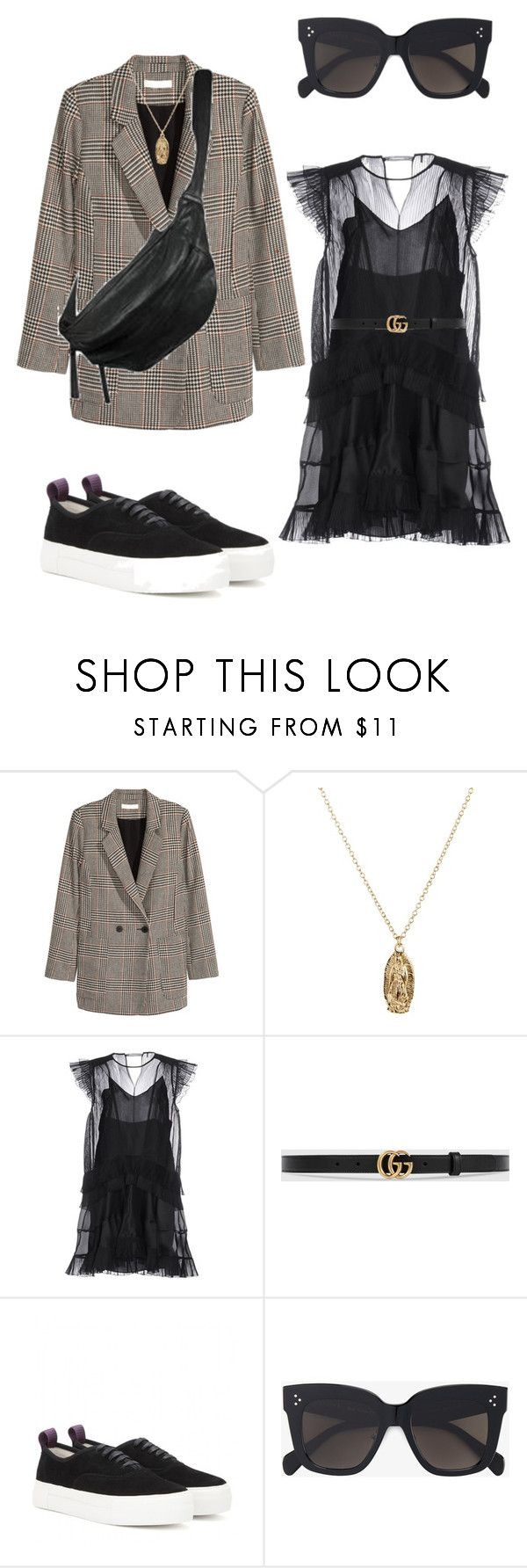 """""""Untitled #231"""" by fashiondisguise on Polyvore featuring Jakke, Yvonne Koné, ASOS, Isabel Marant, Gucci, Eytys and CÉLINE"""