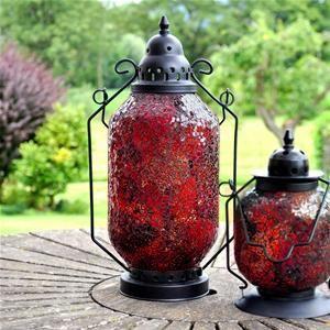 Adobe Marrakesh Large Red Garden Lantern