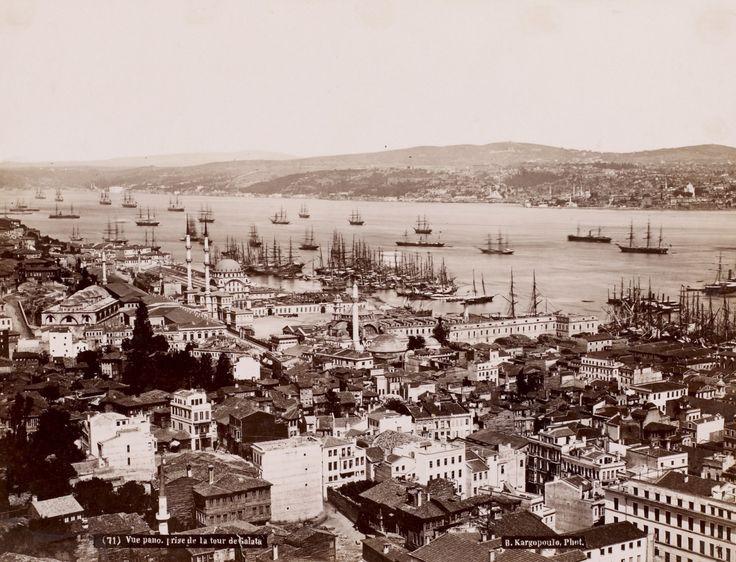 Galata Kulesi'nden Tophane Basile Kargopoulo Fotoğrafı 1875