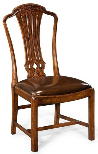 Dining Chair JONATHAN CHARLES BUCKINGHAM Hepplewhite Floral Swags Pierce JC-915