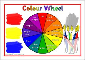 Colour wheel posters and cut-outs (SB5435) - SparkleBox