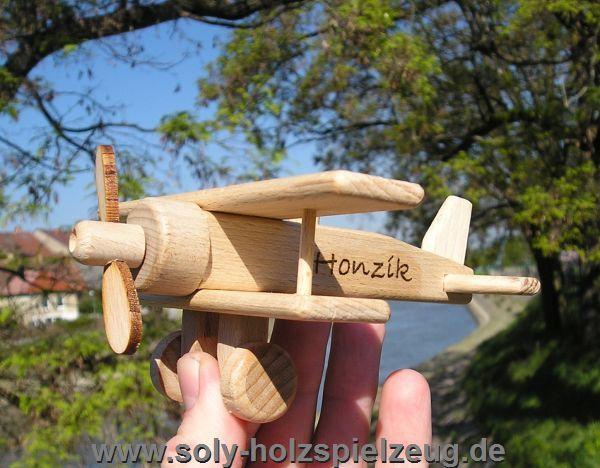 Flugzeuge Kinder Spielzeug mi Gravur