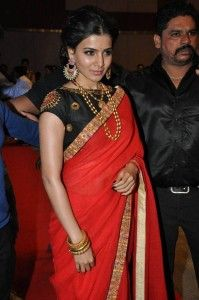 See and download Samantha Ruth Prabhu red saree Photos at Son of Satyamurthy Audio Launch from getcityinfo entertainment image gallery.Surf more hd wallpapers