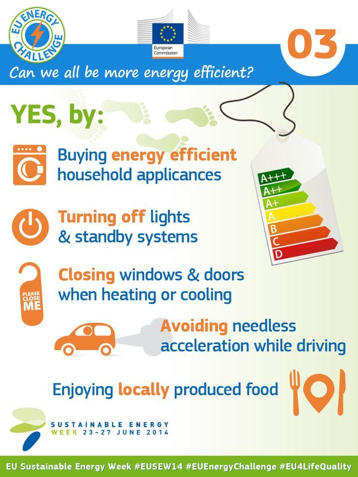 Can we all be more energy efficient?  #EnergyEfficiency #RenewableEnergy