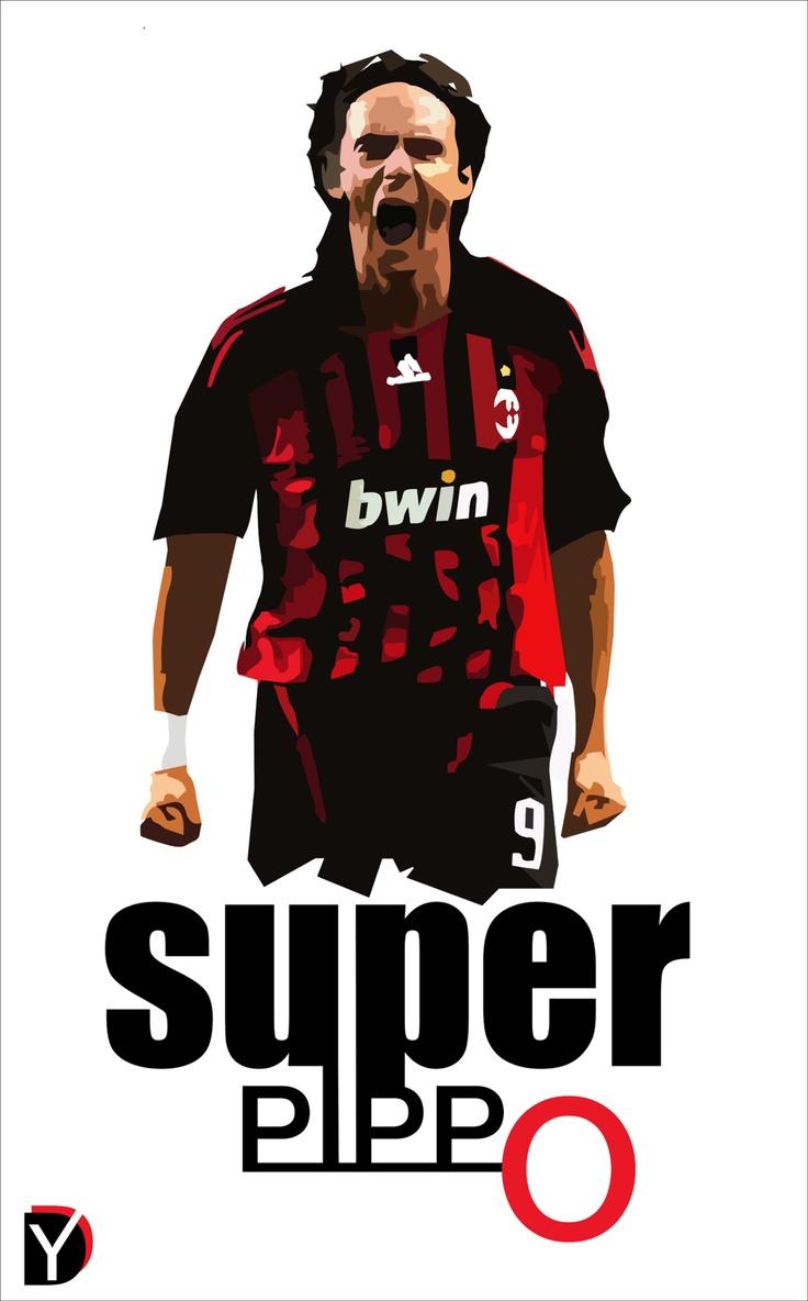 SUPER PIPPO #neverAgain :(....Fan Art: Filipo Inzaghi (AC Milan) #Football #Legend