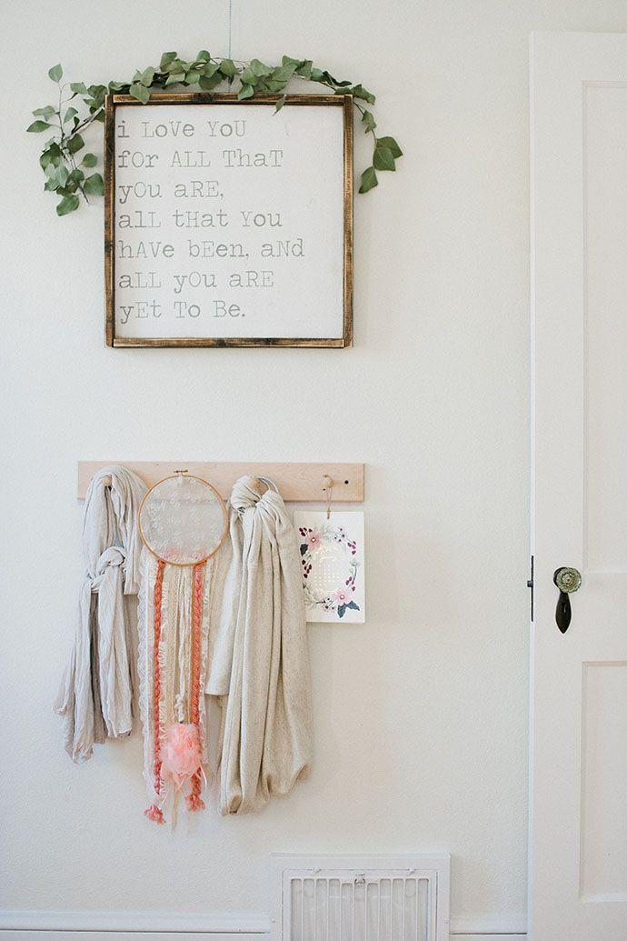 Wooden peg board