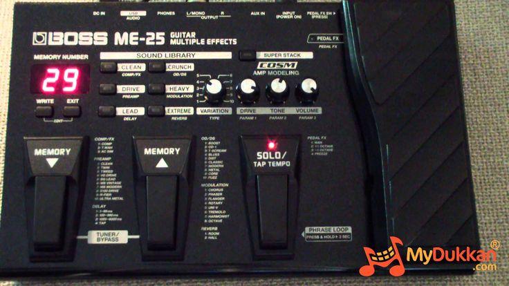 Boss ME-25 Gitar Prosesör İncelemesi (Hızlı Video)
