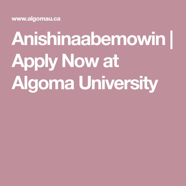 Anishinaabemowin | Apply Now at Algoma University