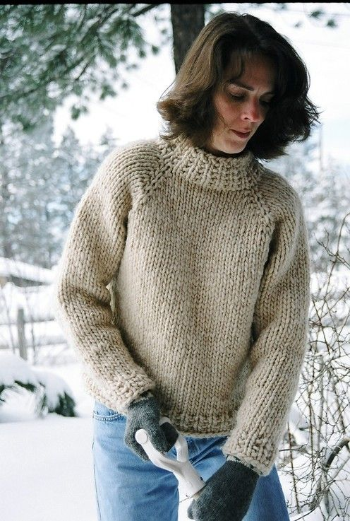 Knitting Pattern Weekend Cardigan : Knitting Pure and Simple--Diane Soucy--Weekend Neckdown Pullover Knitting ...