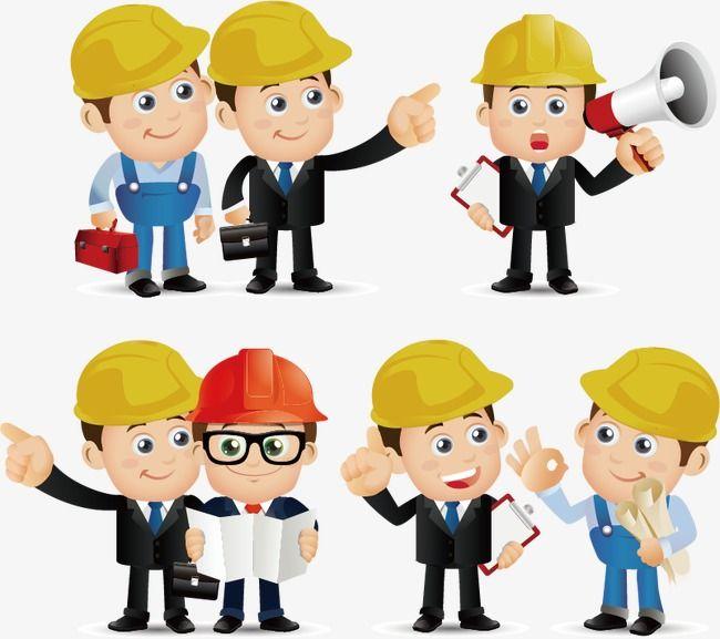 Ingeniero De Construccion De Dibujos Animados Ingeniero Decoraciones Para Trabajos Dibujos Animados