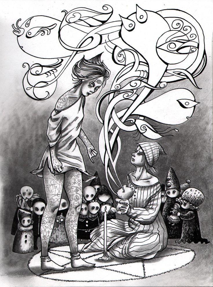 39 best dessins par adeline lamarre images on pinterest - Dessin de malefique ...