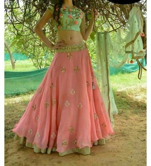 Dreamy lehenga with exquisite embroidery designs to charm any occasion. Only on #kraftly
