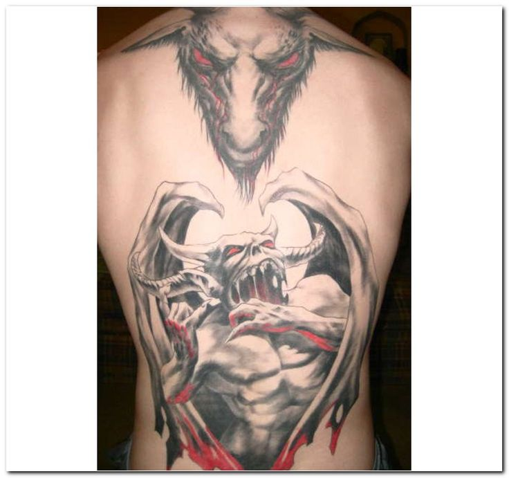 Evil goat tattoo - photo#37
