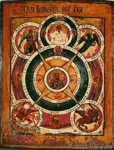 19. Jahrhundert - All-seeing eye of God / Icon / 19th-cent