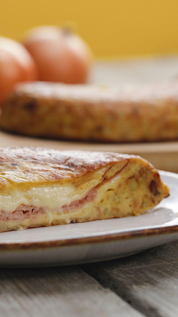 Tortilha Espanhola Recheada   – Recetas ¡con menos de 5 ingredientes!