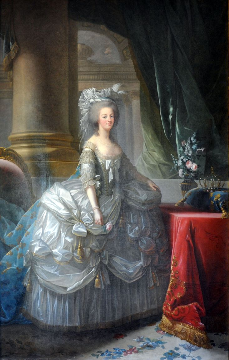 """""""Marie Antoinette queen of France"""" (1779) by Élisabeth Vigée-Lebrun (1755 – 1842), was a French painter, and is recognized as the most important female painter of the 18th century."""