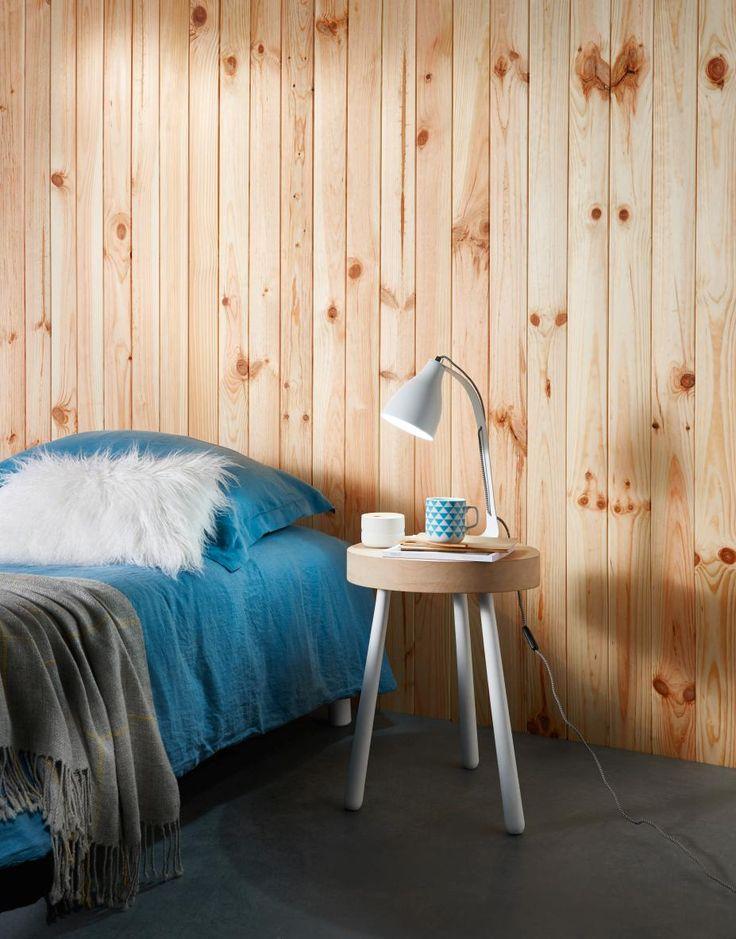 Pensez au lambris pour la décoration de votre chambre !