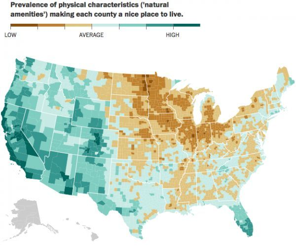 U S Counties Ranked By Scenery And Climate Neatorama