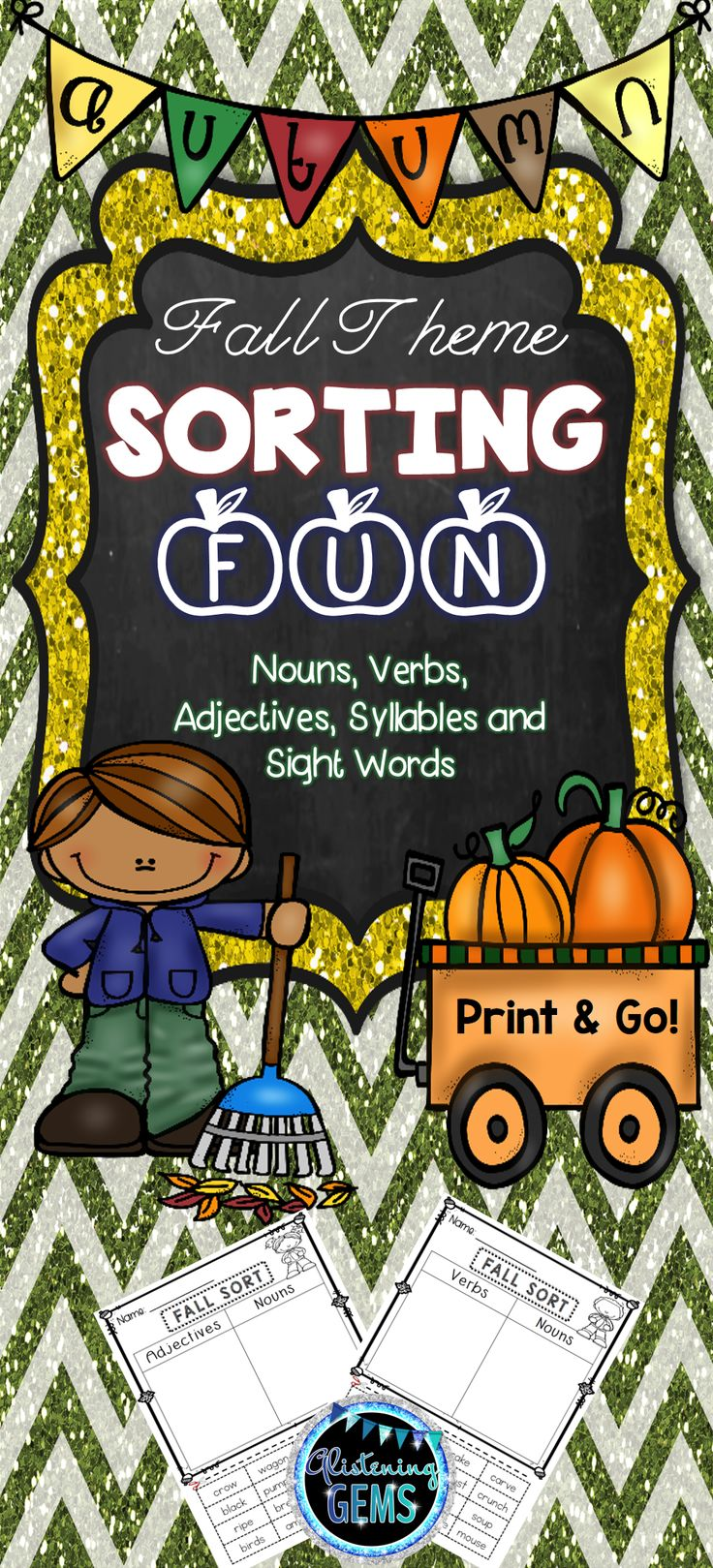 Fall/Autumn Theme Sorts for Literacy Centers