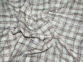 Tweed Check Dress Fabric Pink, Black & Ivory | Fabric | Dress Fabrics | Minerva Crafts